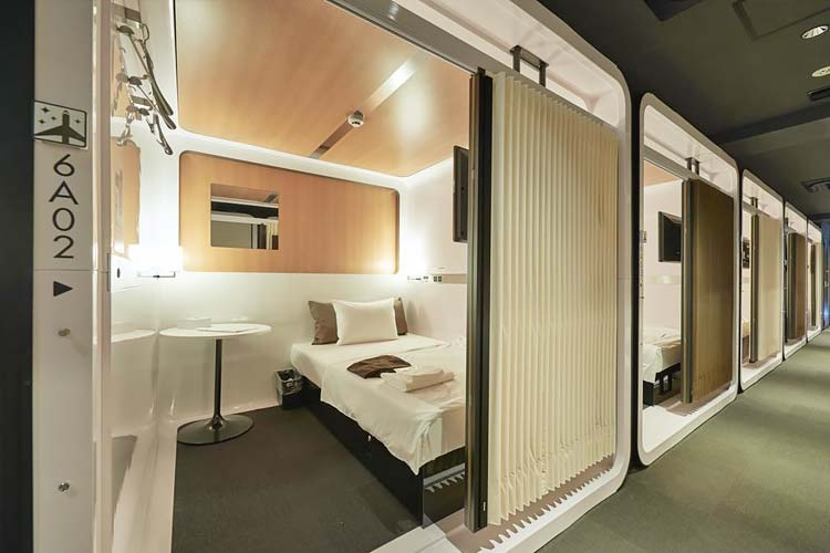 Goedkoop capsulehotel First Cabin Tokyo Dome City